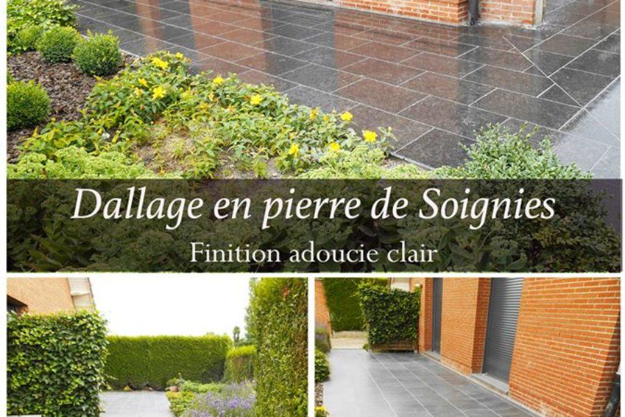 Dallage terrasse en pierre de Soignies