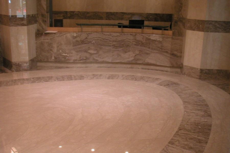 Dallage en marbre du Boulonnais